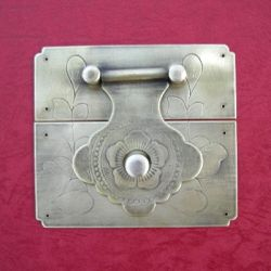 95mm Brass Square Hasp