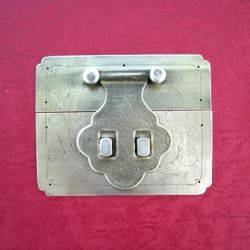 120mm Brass Square Hasp