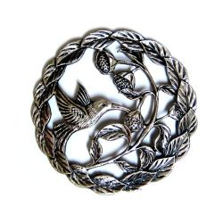 Potpourri Pewter Lid - Leaf and Bird